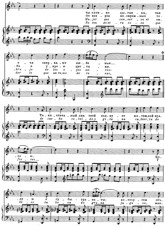 Ноты к песне Гранада