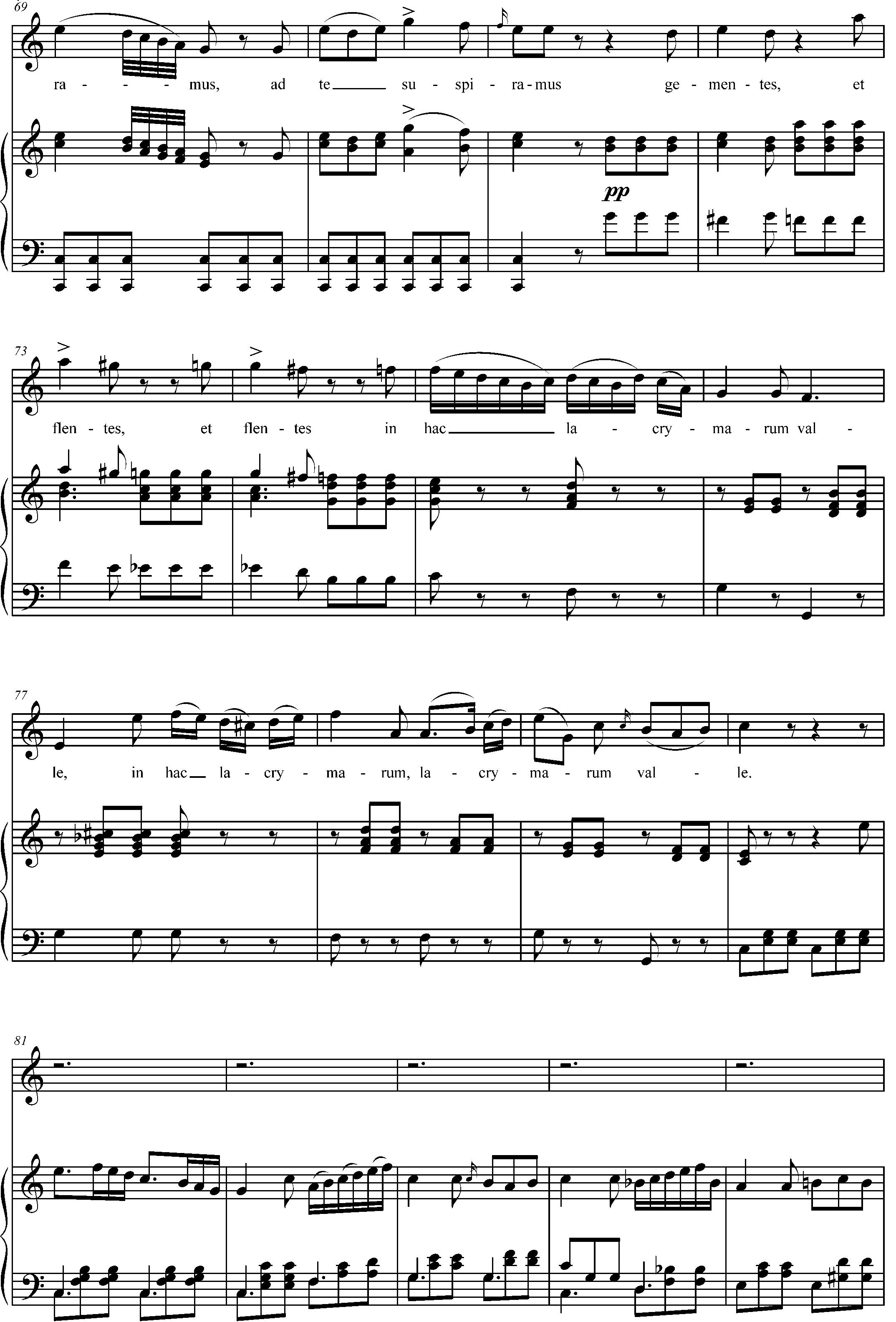 Ноты к песне Salve_Regina